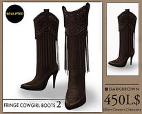 J's Fringe Cowgirl Boots2 (DarkBrown)