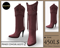 J's Fringe Cowgirl Boots2 (Pink)