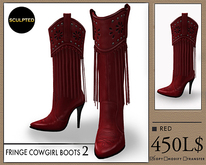 J's Fringe Cowgirl Boots2 (Red)