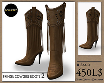 J's Fringe Cowgirl Boots2 (Sand)