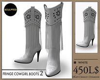 J's Fringe Cowgirl Boots2 (White)
