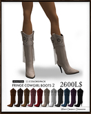 J's Fringe Cowgirl Boots2 (11Colors)