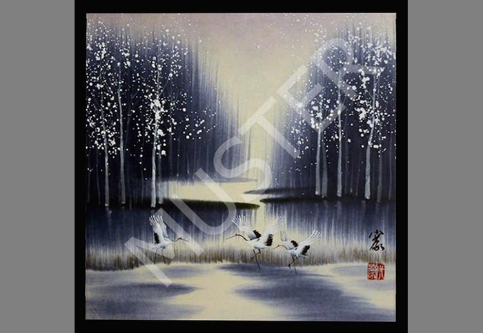 Chinese Picture - WInter Cranes