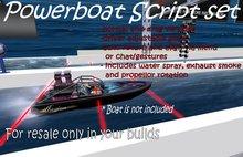 Drag Boat / powerboat script set