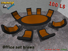 Office set BLACK&BROWN