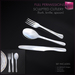 %50SUMMERSALE Full Perm Sculpted Cutlery - Fork - Knife - Spoon Builder's Kit Set FULL PERM