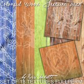 Colorful Wood Texture Pack (FULLPERM)