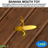 Banana Mouth Toy (Boxed)