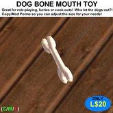 Dog Bone Mouth Toy (Boxed)