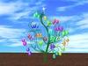 Blinking Easter Tree Eggs 2 (no blurr!)