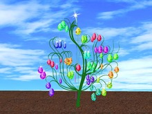 Blinking Easter Tree Eggs 2 (no blurr!)