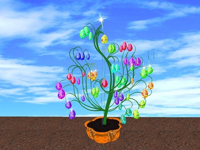 Blinking Easter Tree Eggs 4 (no blurr!)