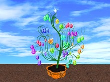 Blinking Easter Tree Eggs 4 (no blurr!)