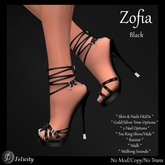 SALE! *Felicity* Zofia Stilettos - Black High Heels Strappy Sandals (Shoes with 2 Heel Sizes)