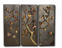 Butterfly Metal Artwork - 3 panel