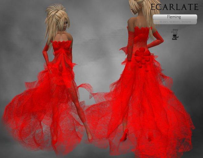 Ecarlate - Cocktail Dress, Formal Dress Red / Robe de soirée formelle Rouge - Fleming