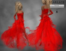 Ecarlate - Cocktail Dress, Formal Dress Red / Robe de soirée formelle Rouge - Fleming