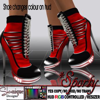SD**Sporty Sneakers Stiletto heels hud