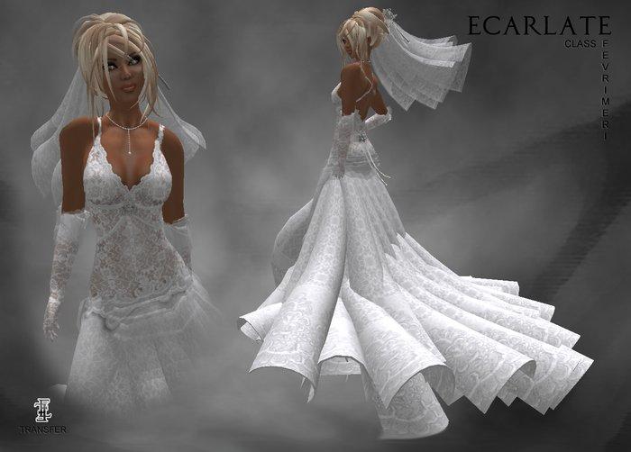 Ecarlate - Wedding Gown Dress Marriage Class/ Robe Mariage Class - Fevrimeri