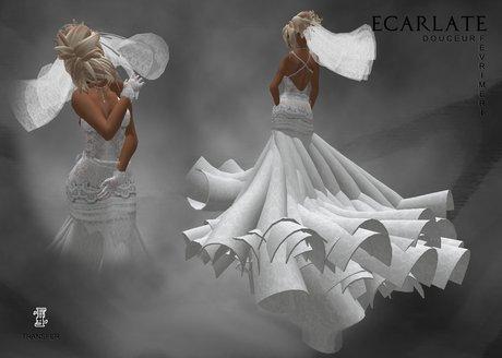 Ecarlate - Dress Mariage Douceur / Robe Mariage Douceur - Fevrimeri