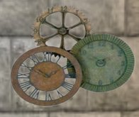 Metal Clocks Wall Decoration