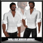 ♡ Bliss Designs ~ Mens &  Women's Unisex White Shirt With Prim Cuffs ~ Very Comfortable & Amazingly Soft  ~ Peace