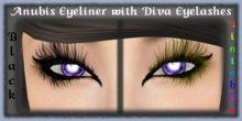 ANUBIS Eyeliner with Black & Tintable DIVA Eyelashes - Tattoo Eye Makeup