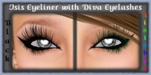 ISIS Eyeliner with Black & Tintable DIVA Eyelashes - Tattoo Eye Makeup