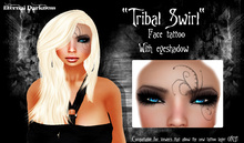 "::ED::  ""Tribal Swirl"" face tattoo plus eyeshadow"