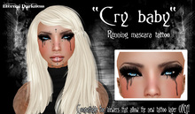 "::ED::""Cry baby"" running mascara tattoo"
