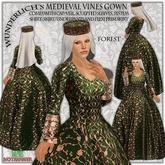 Wunderlich's Medieval Vines dress - Forest