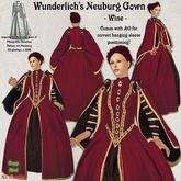 Wunderlich's Elizabethan Neuburg dress - Wine