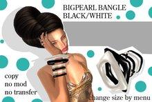 BANGLE - BIGPEARL BLACK/WHITE