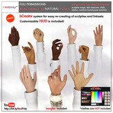 FULL PERMISSIONS Sculpted Real Hands NATURALS - 10  poses made by RedPoly