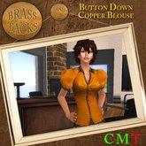 ! BT ! Button Down Blouse Copper