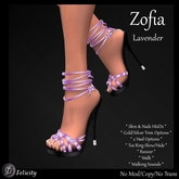 SALE! *Felicity* Zofia Stilettos - Lavender High Heels Strappy Sandals (Shoes with 2 Heel Sizes)