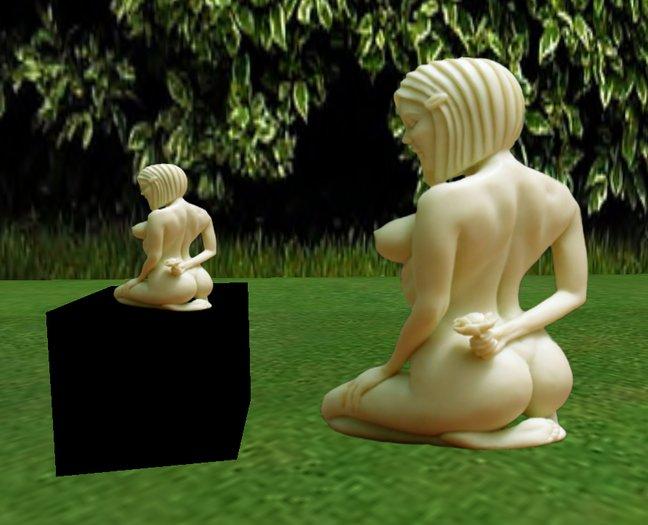 ivory statue Lotus flower