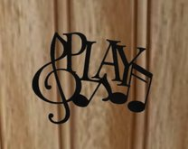 Metal Play Music Wall Decoration
