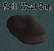 Soft Wool Flat Cap