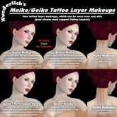 Wunderlich's Maiko / Geisha Tattoo Layer Makeups
