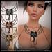 *League* Kandula Elephant Necklace -Black Metal