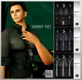 (O&N) Skinny Neckties (Fat Pack)