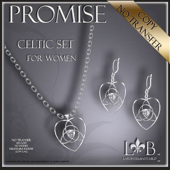 Necklace and Earring Set - Celtic Promise - Necklace Set  - Silver - Lapointe & BastChild