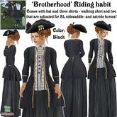Wunderlich's Brotherhood Riding Habit - Black