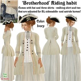 Wunderlich's Brotherhood Riding Habit - Ivory