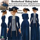 Wunderlich's Brotherhood Riding Habit - Midnight