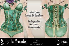 Schadenfreude Mint Julep Corset (Marketplace Exclusive)