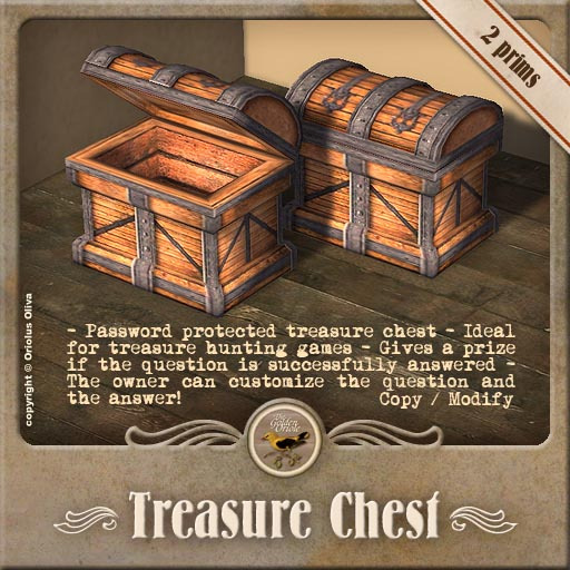[OO] Treasure Chest - Password or quiz question protected!