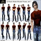 Amacci ~ 12 Male Stand Poses, Set 1