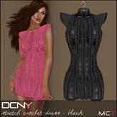 DCNY Stretch Crochet Dress in Black